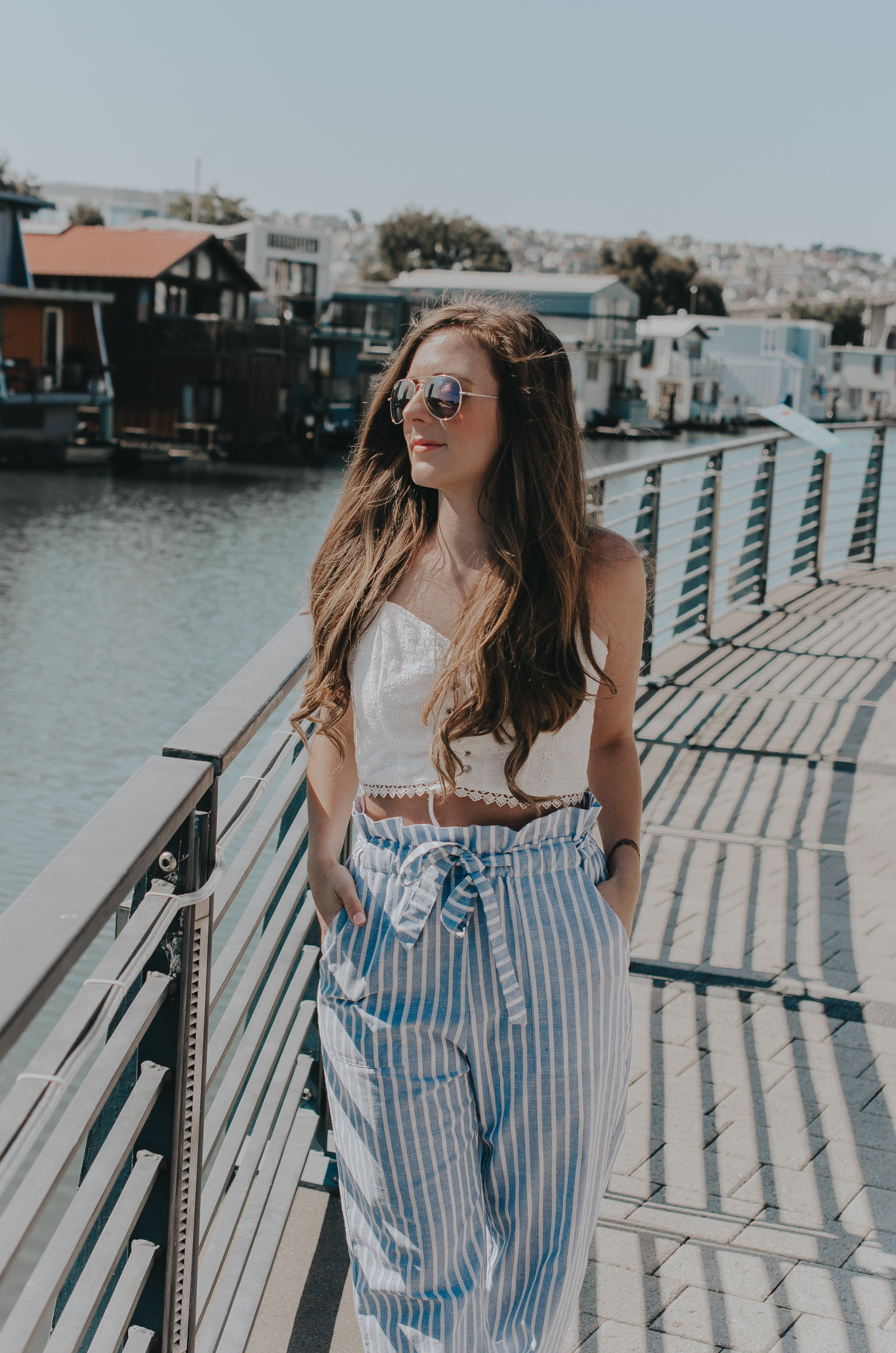 Blue Linen Striped Pants + The Most Beautiful Thing You Should Be Wearing